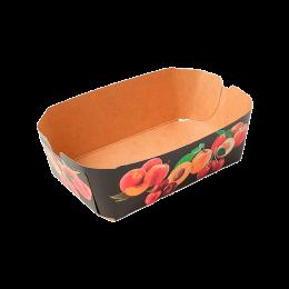 Cesta de cartón para fruta impresión