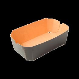 Cesta de cartón para fruta negra