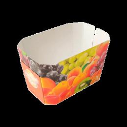 Cesta de cartón para fruta personalizada