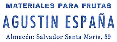 Primer logotipo empresa Agustin España