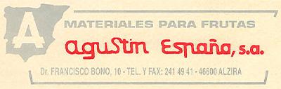 Segundo logotipo empresa Agustin España